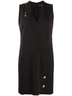 Платье-трапеция Paper Clip Versace. Цвет: черный