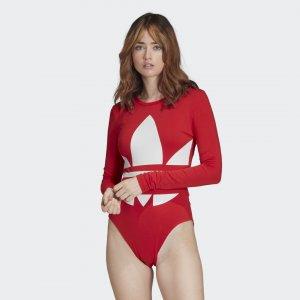 Боди Large Logo Originals adidas. Цвет: красный