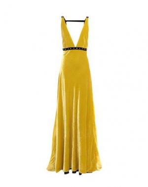 Длинное платье PHILOSOPHY di LORENZO SERAFINI. Цвет: охра