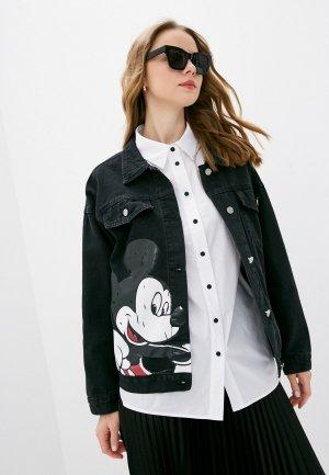 Куртка джинсовая Goldrai. Цвет: черный