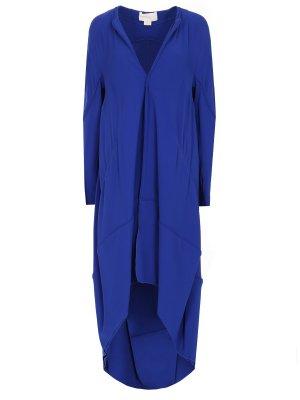 Асимметричное пальто Antonio Berardi. Цвет: синий