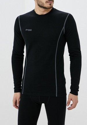 Термобелье верх Bergans of Norway Akeleie Shirt. Цвет: черный