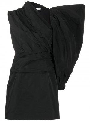 Короткое платье асимметричного кроя Givenchy. Цвет: черный