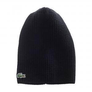 Вязаная шапка Lacoste. Цвет: черный