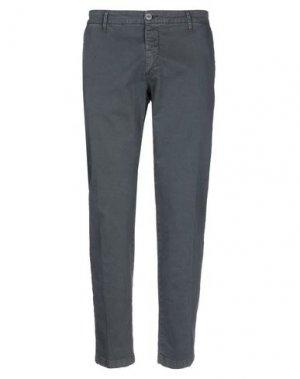 Повседневные брюки EXTE. Цвет: свинцово-серый