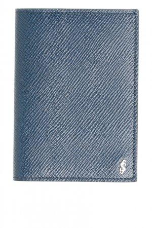 Держатель для карт синего цвета Serapian. Цвет: синий