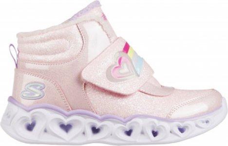 Кроссовки высокие утепленные для девочек Heart Lights, размер 28.5 Skechers. Цвет: розовый