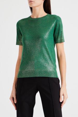 Зеленый пуловер с короткими рукавами Max Mara Studio