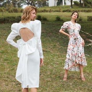 Платье с вырезом и большим бантом 1шт размера плюс SHEIN. Цвет: белый