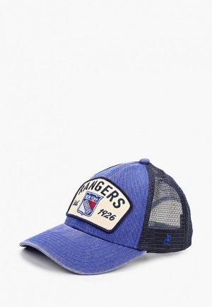 Бейсболка Atributika & Club™ New York Rangers. Цвет: синий