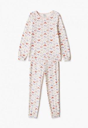 Пижама КотМарКот. Цвет: бежевый
