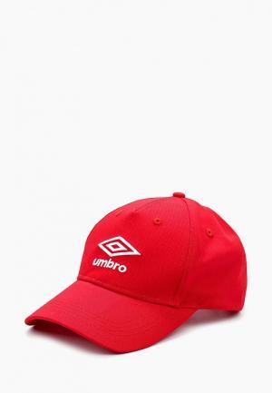 Бейсболка Umbro CAP. Цвет: красный
