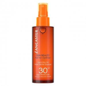 Шелковое масло для тела Sun Beauty SPF30 Lancaster. Цвет: бесцветный