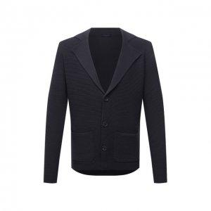 Шерстяной пиджак Daniele Fiesoli. Цвет: серый