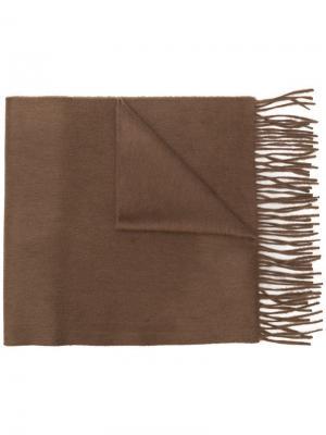 Кашемировый шарф с бахромой Begg & Co. Цвет: коричневый