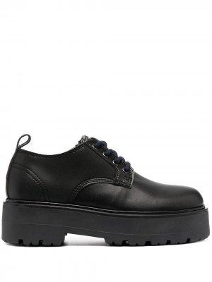 Туфли на шнуровке Tommy Jeans. Цвет: черный
