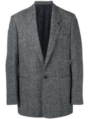 Пиджак свободного кроя на одной пуговице E. Tautz. Цвет: серый
