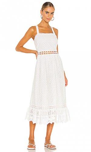 Платье миди gayan Place Nationale. Цвет: белый