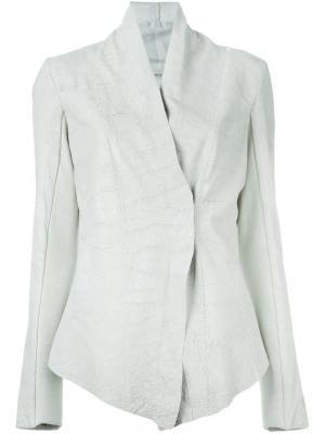 Приталенная куртка с высоким воротником 10Sei0otto. Цвет: зелёный