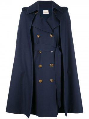 Двубортное пальто кейп Khaite
