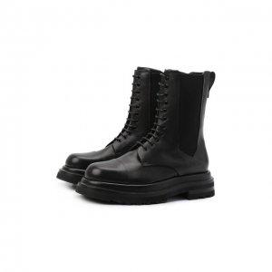 Кожаные ботинки Giorgio Armani. Цвет: чёрный