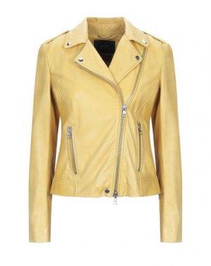 Куртка SET. Цвет: желтый