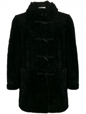 Дафлкот с овчиной Saint Laurent. Цвет: черный
