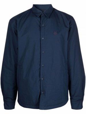 Куртка-рубашка с нашивкой Tiger Kenzo. Цвет: синий