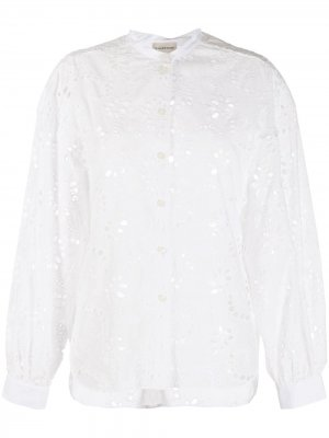 Блузка с английской вышивкой By Malene Birger. Цвет: белый