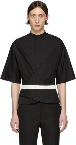 Black Wrap Belt Shirt Haider Ackermann. Цвет: black