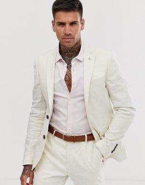 Светло-бежевый приталенный пиджак Avail London