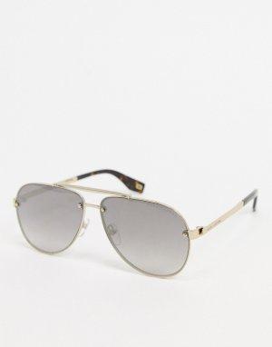 Золотистые солнцезащитные очки-авиаторы -Золотистый Marc Jacobs