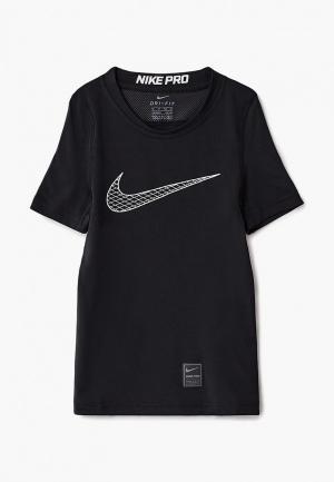Футболка спортивная Nike Boys Pro Top. Цвет: черный