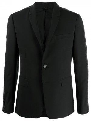 Однобортный пиджак с логотипом Fendi. Цвет: черный