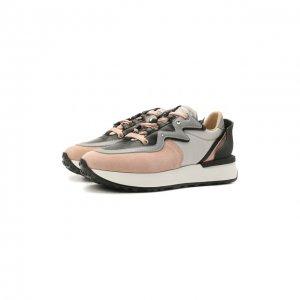 Замшевые кроссовки Running Le Silla. Цвет: розовый