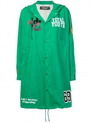 Пальто с логотипом Undercover. Цвет: зеленый