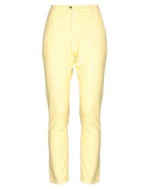 Повседневные брюки CYCLE. Цвет: желтый