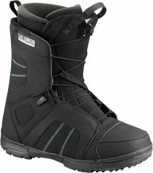 Сноубордические ботинки Titan, размер 43,5 Salomon. Цвет: черный