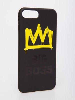 Чехол силиконовый BIG BOSS Black Star Wear. Цвет: черный/желтый