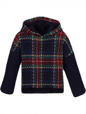 Пуловер с капюшоном Lapin House. Цвет: синий
