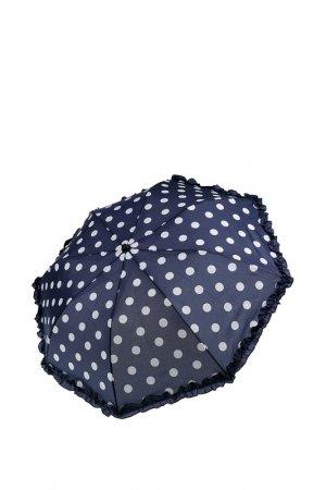 Зонт-полуавтомат PlayToday. Цвет: тёмно-синий, белый