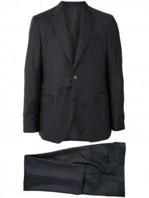 Полосатый костюм с однобортным пиджаком Salvatore Ferragamo. Цвет: серый