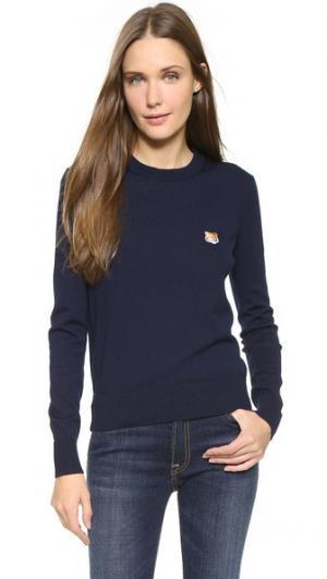 Пуловер с округлым вырезом Maison Kitsune