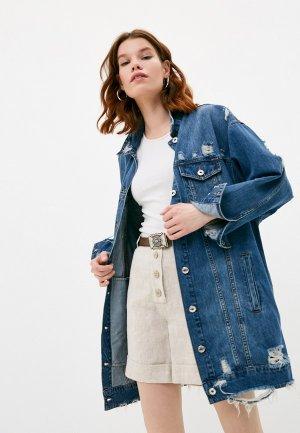 Куртка джинсовая Twinset Milano ACTITUDE. Цвет: синий