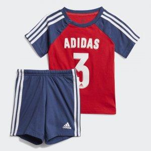 Комплект: футболка и шорты Sport Performance adidas. Цвет: красный
