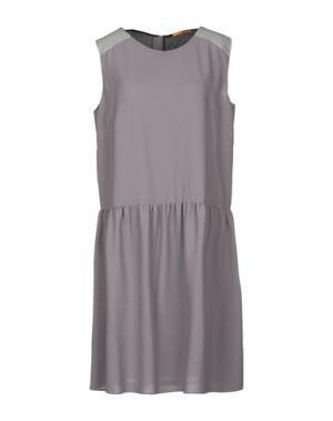 Короткое платье BOSS HUGO. Цвет: серый