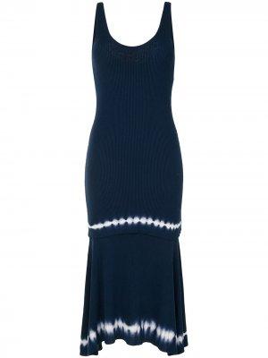 Трикотажное платье Shinobu Altuzarra. Цвет: синий