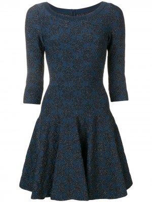 Расклешенное платье с блестками Alaïa Pre-Owned. Цвет: синий