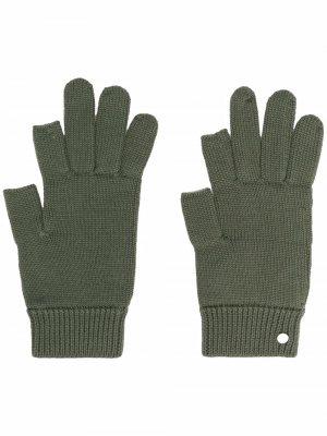 Кашемировые перчатки Touch Screen Rick Owens. Цвет: зеленый