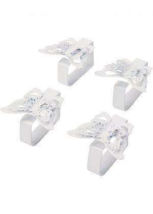 Зажимы для скатерти (4 шт.) bonprix. Цвет: белый